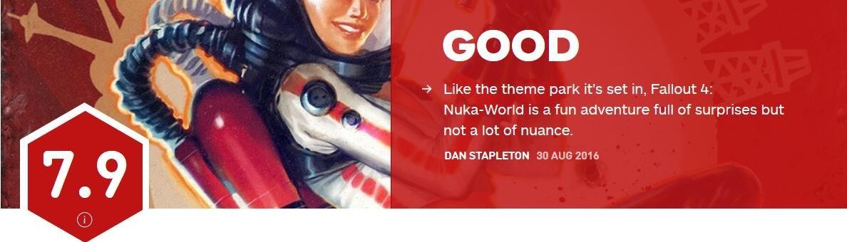 《辐射4》核子世界IGN评分7.9