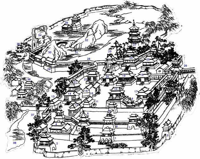 西安宫殿简笔画