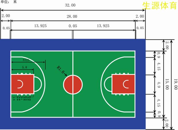 篮球场设计图__室外模型