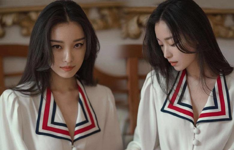 倪妮纯白色系穿搭简约复古 气质灵动优雅