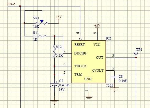 无稳态振荡电路输出高电平只有2.64v