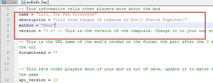 Steam和TGP饥荒MOD汉化教程 教你如何汉化MOD2.jpg