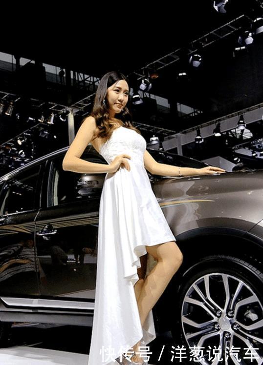 气质车模现身成都车展,助力长安汽车,车美人更美