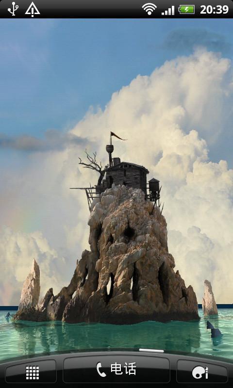幽灵3d小岛动态壁纸(来自:)