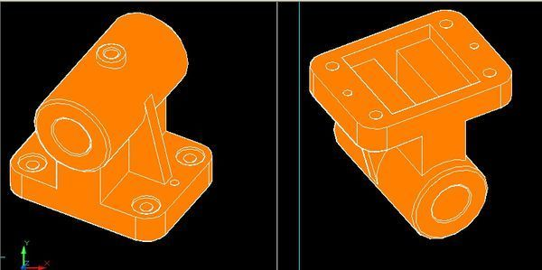 求大神用CAD画这个图的三视图_360v大神电脑一般cad图片