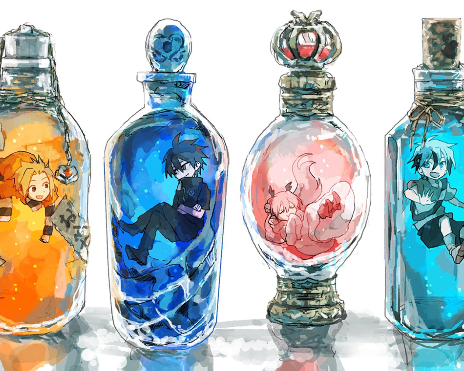 瓶子里的少女