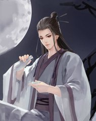 有没有古风的一个人坐在江边对着月饮酒图图片